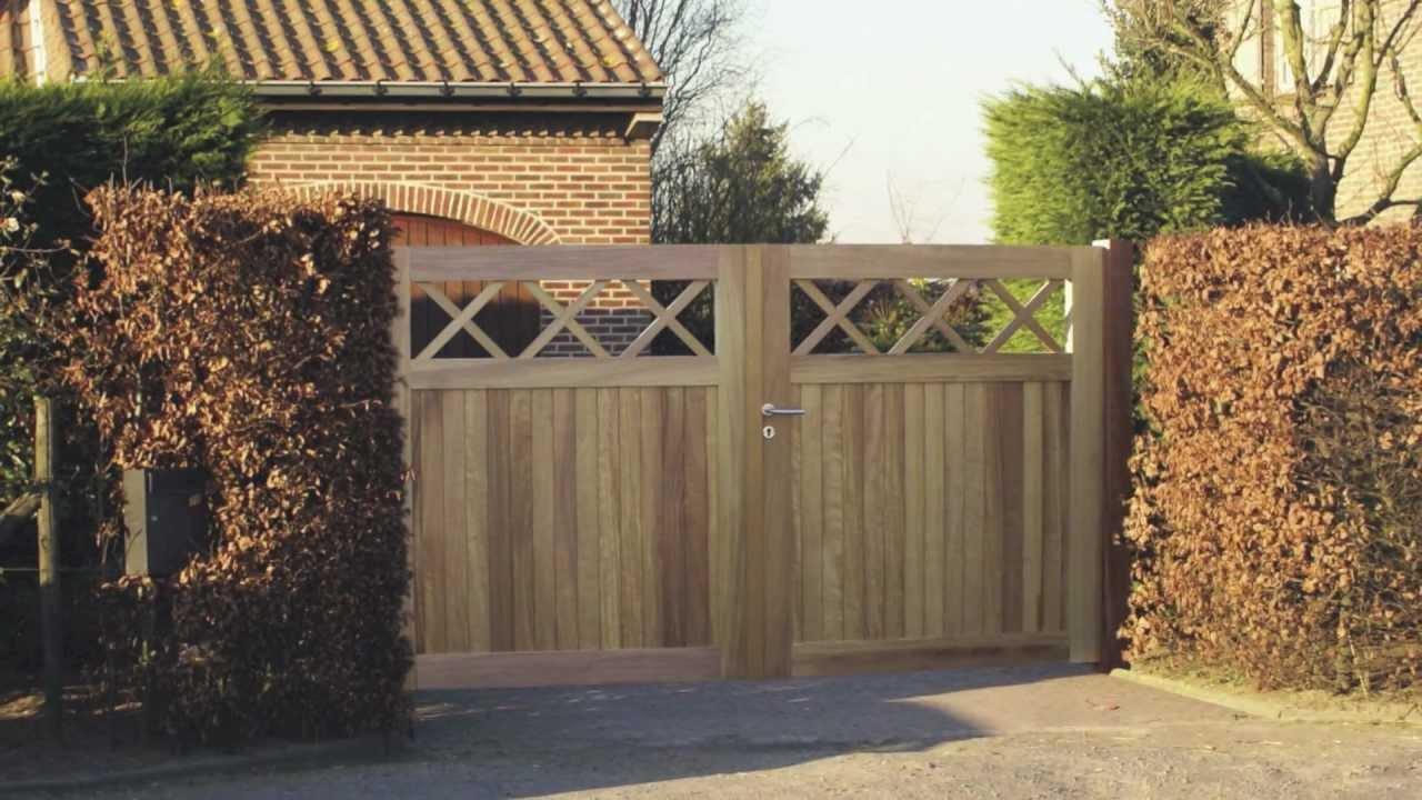 Veranclassic bois de jardin portes et cl tures youtube for Cloture jardin avec porte