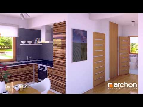 Dom w zielistkach- Wirtualny spacer po wnętrzu. Projekt domu ARCHON+.