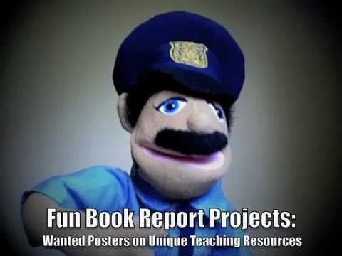 Wanted Poster Book Report Projects - YouTube