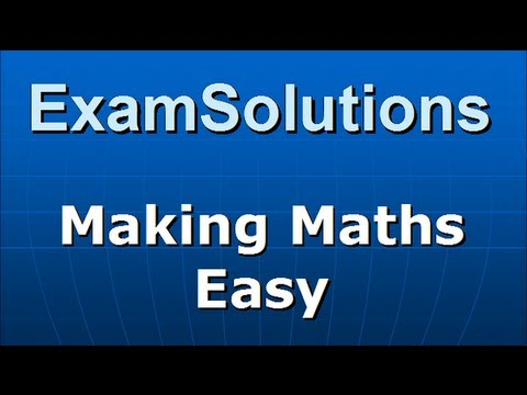 A-Level Edexcel C3 January 2010 Q2(a) : ExamSolutions