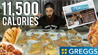 The Ultimate Greggs Brunch (11,500 Calories) | BeardMeatsFood