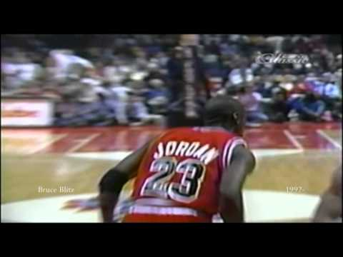 Michael Jordan 50 point game timeline by Bruce Blitz