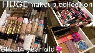 HUGE MAKEUP COLLECTION OF A 14 YEAR OLD