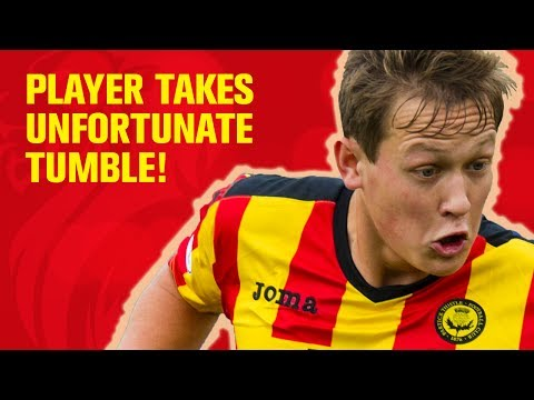 Football funny! Player takes hilarious fall!