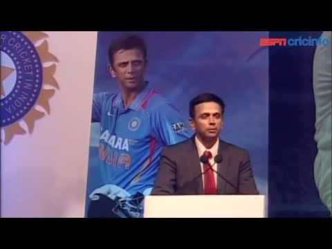 What Dravid said at his felicitation