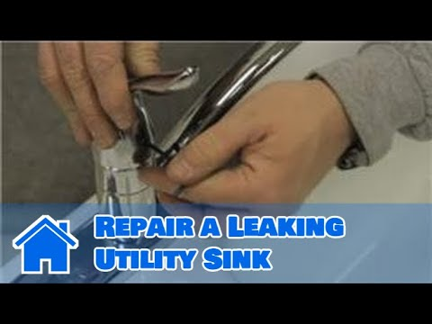 Sink maintenance how to repair a leaking utility sink for Laundry room faucet repair