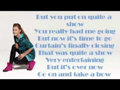 Take a bow lyrics video