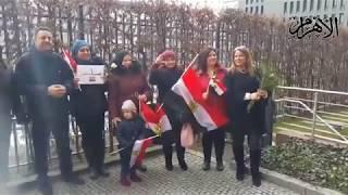 مواطنون يشدون في حب مصر بعد التصويت