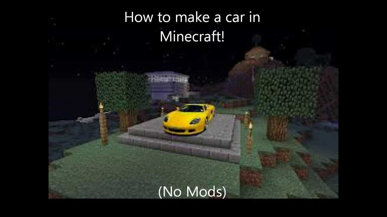 how to build a car in minecraft no mods