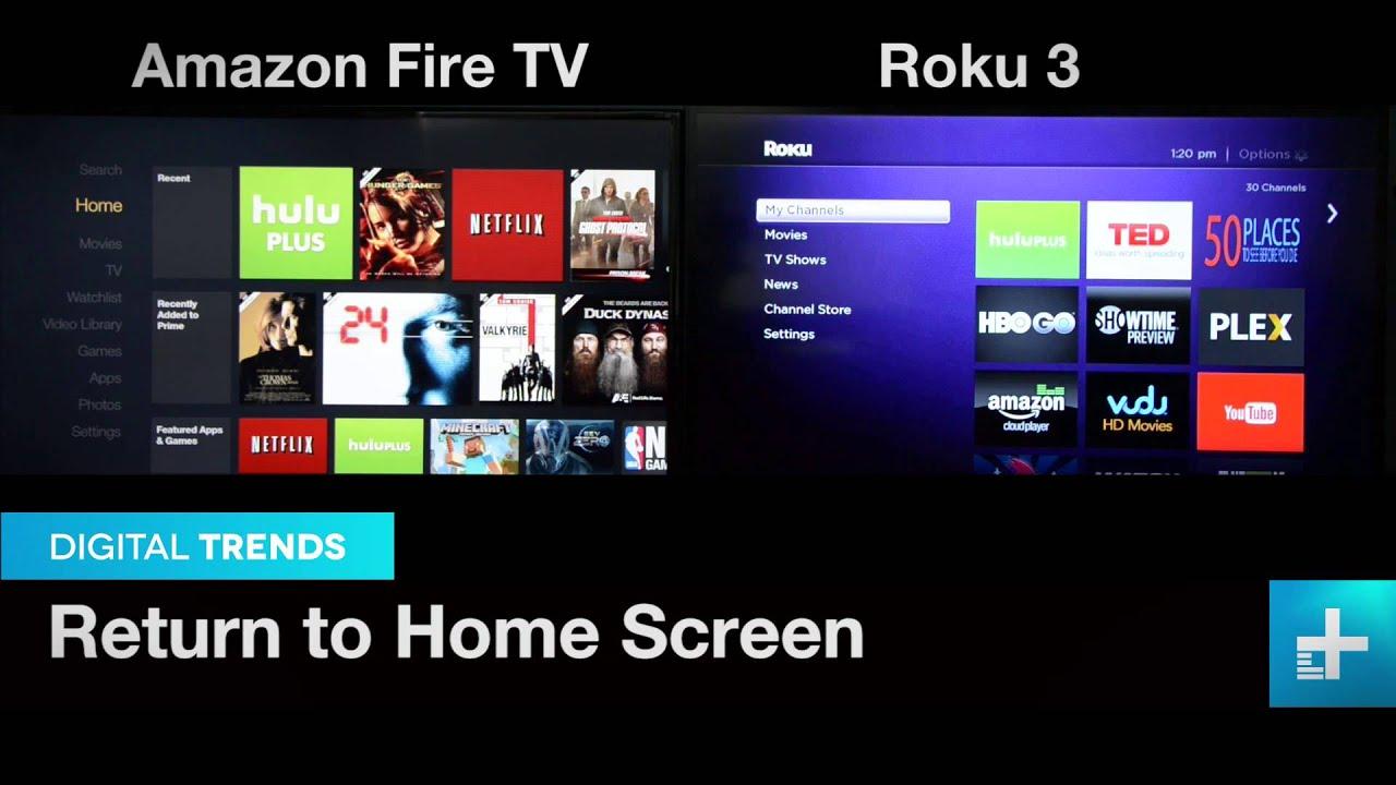 Amazon fire tv vs roku 3 youtube