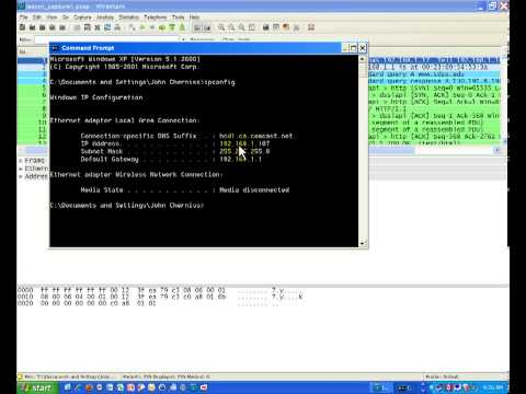 Wireshark Packet Capture  Subnet Mask, ARP and DNS Part 1