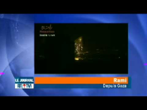 Gaza bombed by israel - JT 04 JANVIER 2009 19h RTL part3