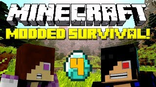 Minecraft: Modded Survival Let's Play - Episode 4: Lazer and Blazer