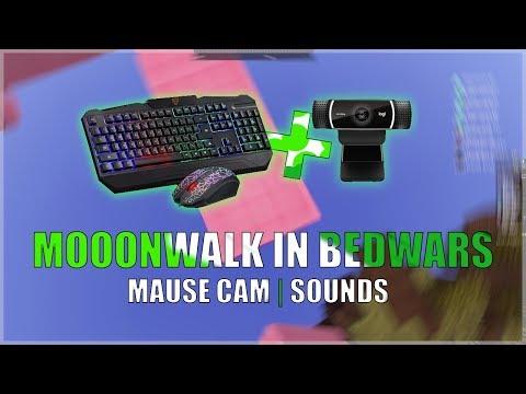 MOONWALK IN BEDWARS | MOUSE CAM & SOUNDS | BEDWARS #6