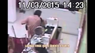Homem usando tornozeleira eletr�nica rouba v�rias lojas de rede de �tica em BH
