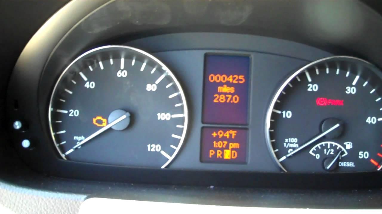 Sprinter Van Warning Light Comes On In Your Mercedes Benz