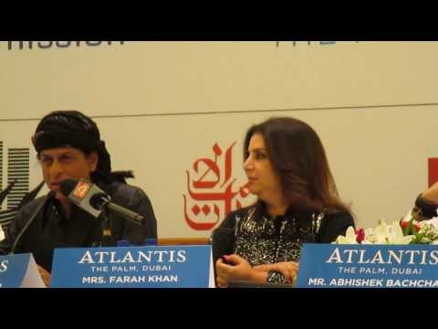 Shah Rukh Khan speaking at Dubai press conference for 'Happy New Year'