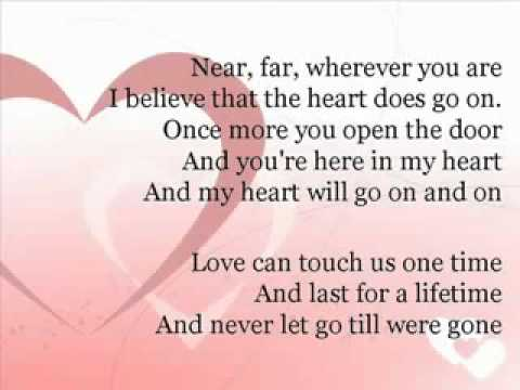 My Heart Will Go On Lyrics