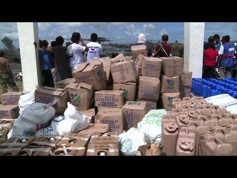 Aid pushes through to Philippine typhoon survivors