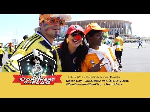 MATCHDAY - Colombia vs Côte d'Ivoire June 19 Brasilia OneContinentOneFlag