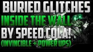 Black Ops 2 Zombie Glitches: Buried Glitches - Inside The Wall By Speed Cola! (High Rounds)