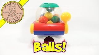 Pull 'N Pop Dome Ball Party Gumball Machine Toy, 1995 Tomy
