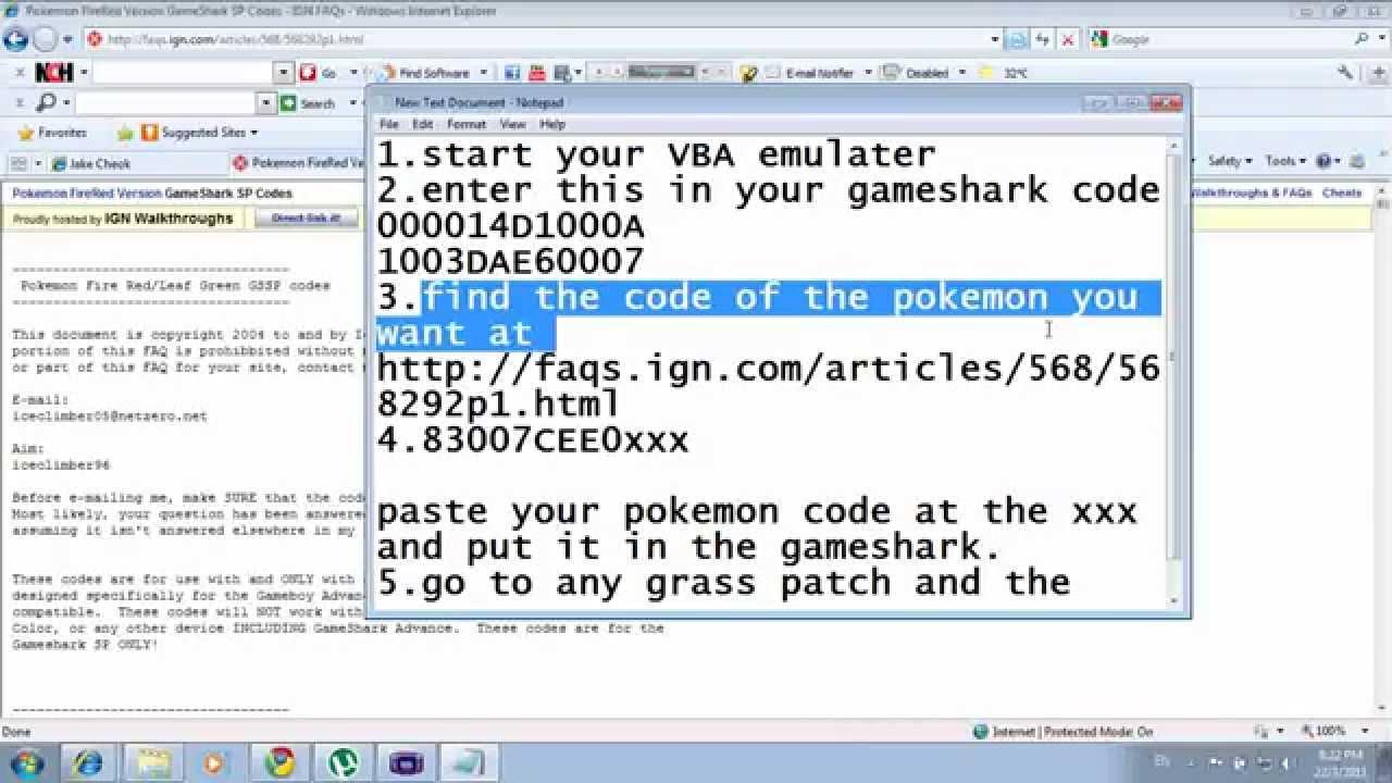 Pokemon Red Visual Boy Advance Cheats