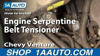 How To Install Replace Engine Serpentine Belt Tensioner