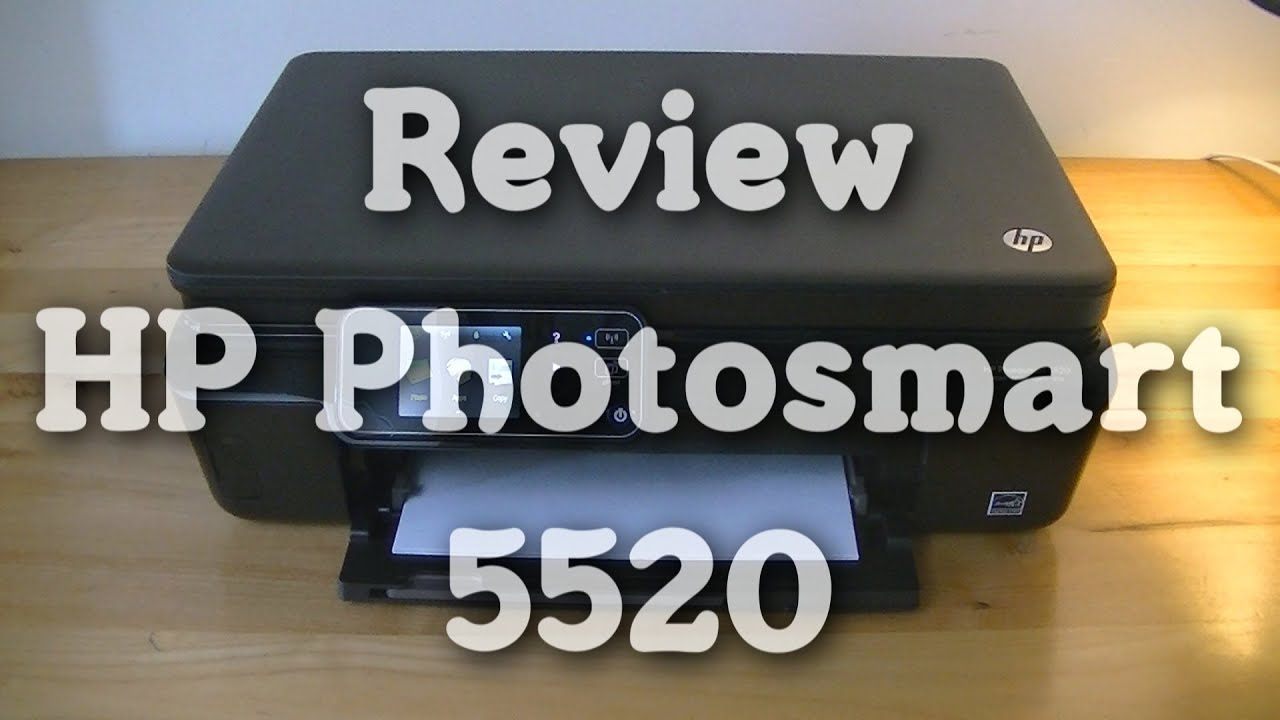 review hp photosmart 5520 youtube. Black Bedroom Furniture Sets. Home Design Ideas