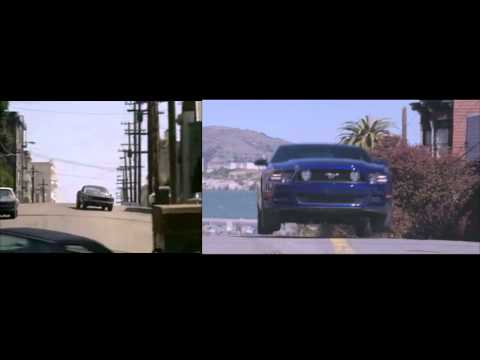 Alcatraz Chase scene/ Bullitt Chase scene Comparison Video