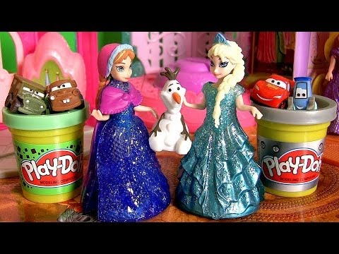 Magic Clip Frozen Glitter Glider Anna, Elsa & Olaf MagiClip Disney Princess Dolls by Disneycollector