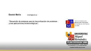 Doctorado IBMC - Desarrollo de sistemas para la inmovilización de proteínas