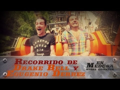 Team The Joker - Recorrido de Drake Bell y Eugenio Derbez en Medusa Steel Coaster