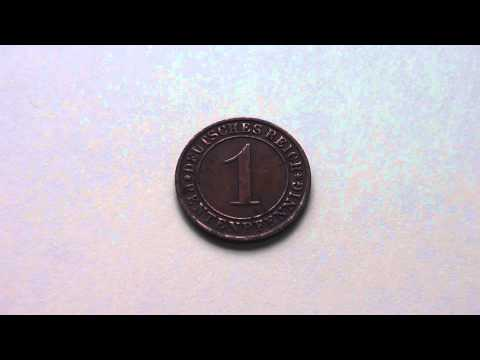 Old german coin - 1 Rentenpfennig from 1924 in HD