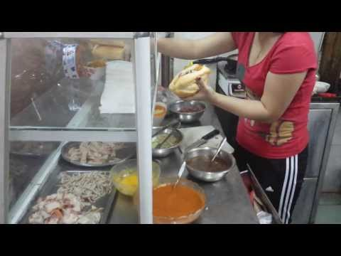 Best Banh Mi Thit Nguoi With Egg and Beef Hanoi Vietnam 2014