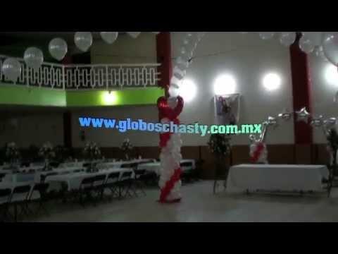 decorado de boda con globos chasty