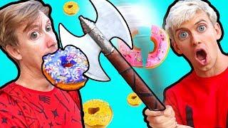 NINJA WEAPONS VS DONUTS!!