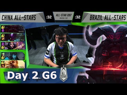 China vs Brazil | Day 2 of LoL 2017 All Star Group Stage | LPL All-Stars vs Brazil All-Stars
