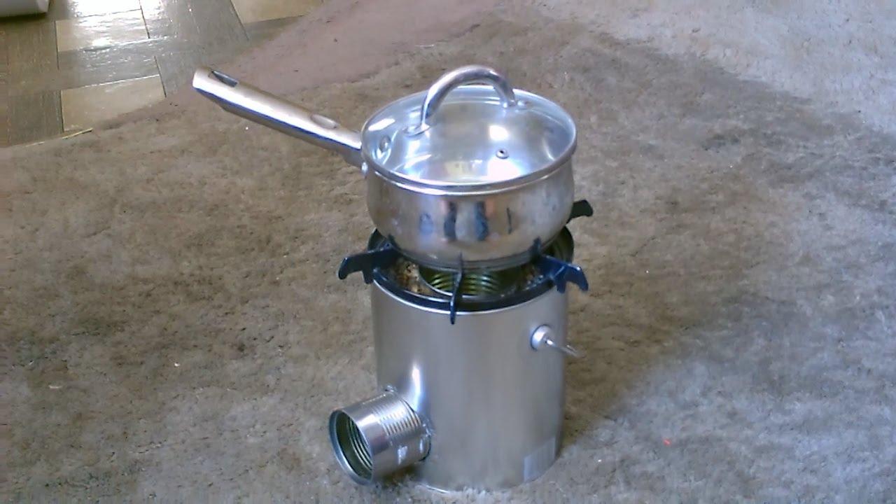 Tin can rocket stove simple diy cooks great quick for Tin can rocket stove