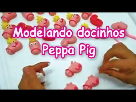 Modelando docinhos peppa pig
