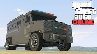 GTA Online: Police Riot Van Location! LSPD Riot Secret