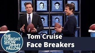 Jimmy Fallon Throws Footballs at Pictures of Tom Cruise