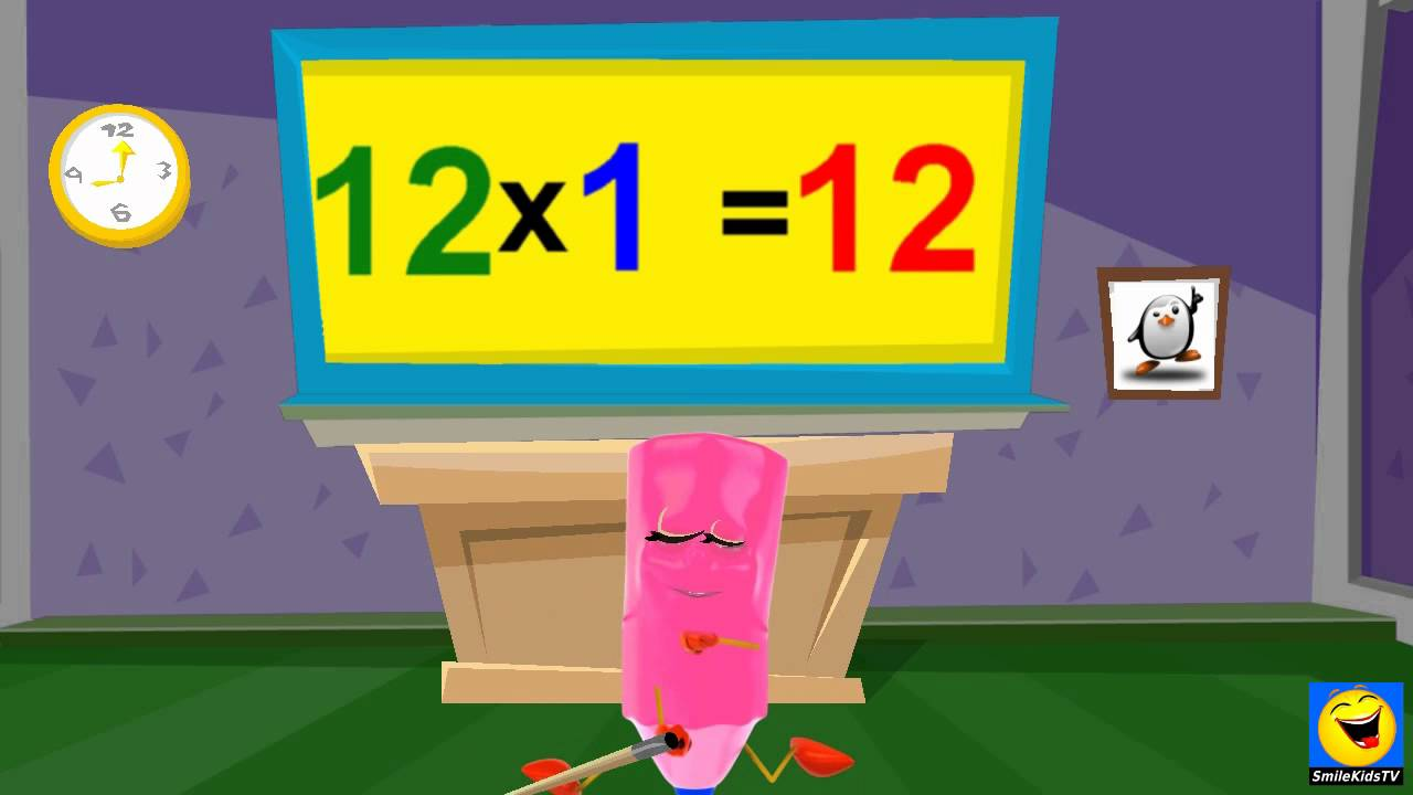 School tutorial 12 times table twice kids songs youtube for 12 times table song