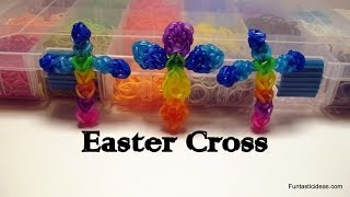 Rainbow Loom Easter Cross Charm How To