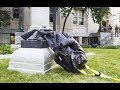 Confederate Statue Smashed By Protesters VIDEO