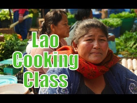 Learning How To Cook Lao Food at Tamarind Lao Cuisine cooking school in Luang Prabang, Laos