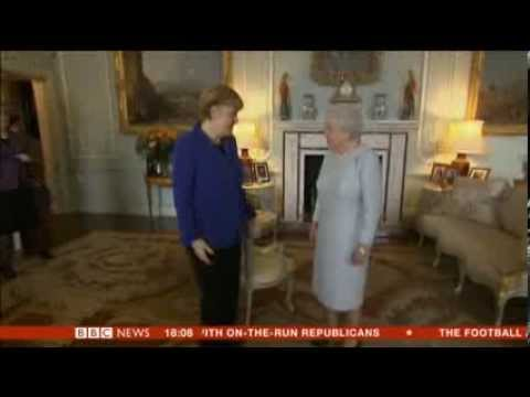 Chancellor Angela Merkel treated like a queen on her visit to London, no support for Conservatives o