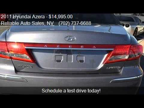 2011 Hyundai Azera Limited Sedan for sale in Las Vegas, NV 8