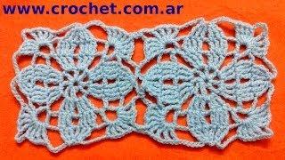 Union Del Motivo N° 3 Granny Square En Tejido Crochet
