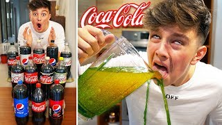 What Happens when you MIX Every Type of COKE... {DO NOT TRY}